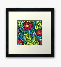 Psychedelic LSD Trip Ornament 0009 Framed Print