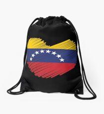 Venezuela-Flaggen-Herz Rucksackbeutel
