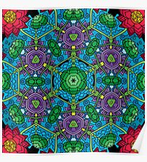 Psychedelic LSD Trip Ornament 0010 Poster