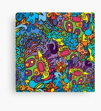 Psychedelic LSD Trip Ornament 0001 Canvas Print