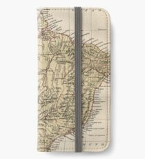 Vintage Map of Brazil (1889) iPhone Wallet/Case/Skin