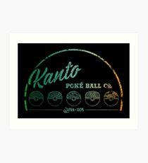 Green Kanto Poké Ball Company Art Print