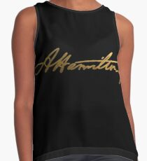 Alexander Hamilton Gold Signature Contrast Tank