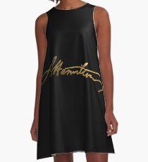 Alexander Hamilton Gold Signature A-Line Dress