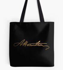 Alexander Hamilton Gold Signature Tote Bag