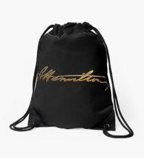 Alexander Hamilton Gold Signature Drawstring Bag