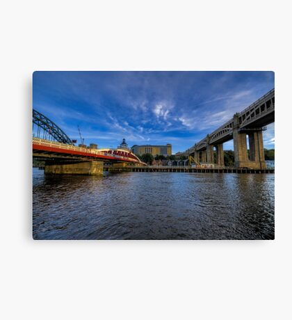 Between the Bridges Canvas Print