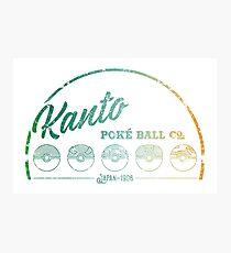 Green Kanto Poké Ball Company on White Photographic Print
