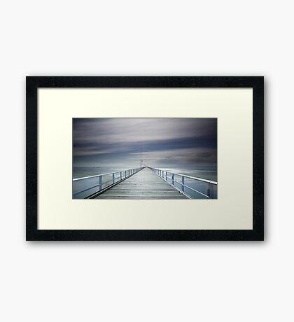 A long walk down the pier! Framed Print