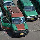 angkot-public transportation in bandung by bayu harsa