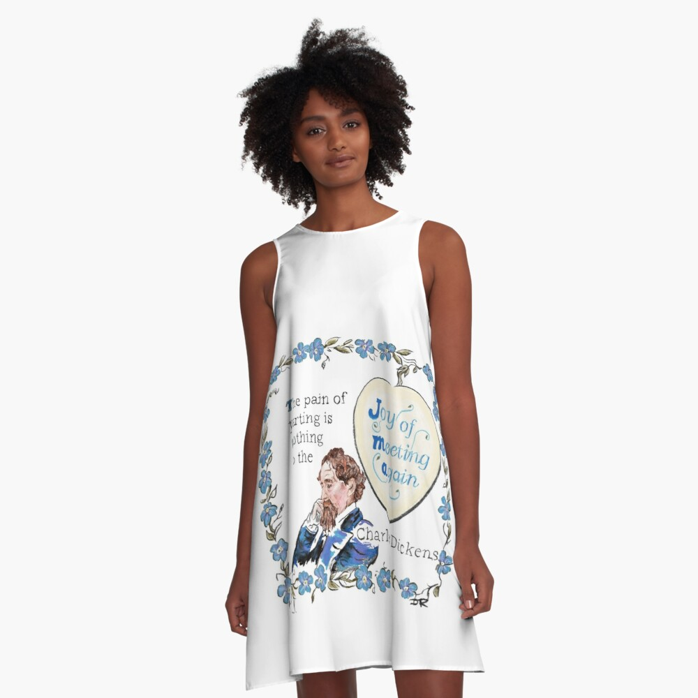 Charles Dickens Quotes - Meeting Again A-Line Dress Front