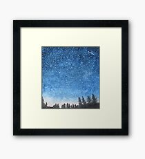 Blue Star Sky Framed Print