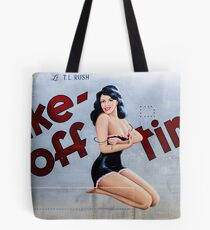 Take-Off Time Tote Bag