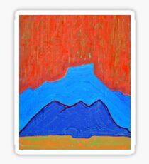 Cerro Pedernal original painting Sticker