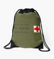 First Aid Kit Decal - US Army stylings Drawstring Bag