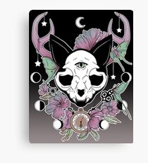 Twilight -- Skull Cat Canvas Print