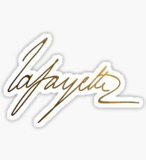 Pegatina Marquis de Lafayette Gold Signature