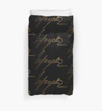 Marquis de Lafayette Gold Signature Duvet Cover