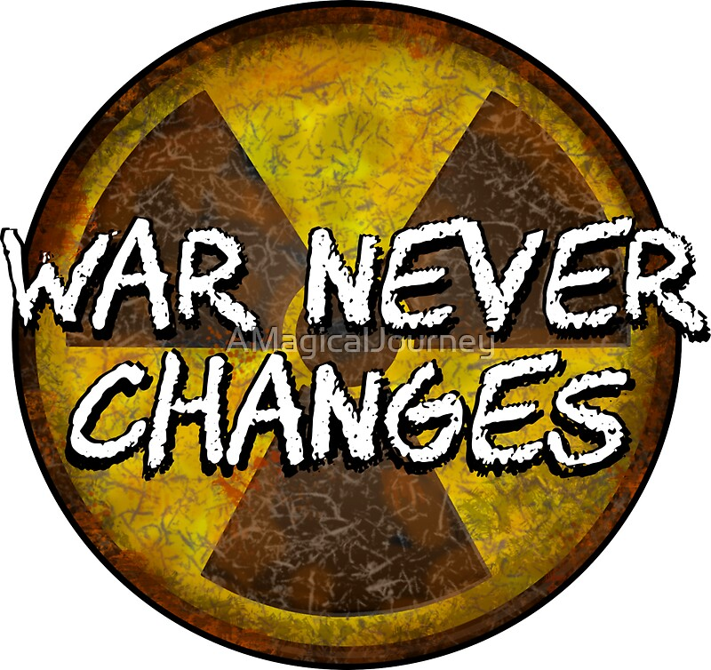 War Never Changes Radioactive Symbol Stickers By Amagicaljourney