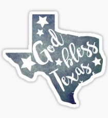 God bless Texas Sticker