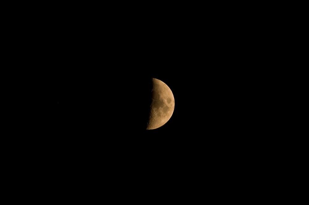 Moon over Bolzano/Bozen, Italy by L Lee McIntyre