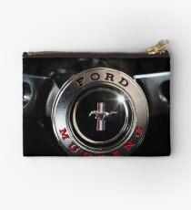 ford mustang, steering wheel Zipper Pouch