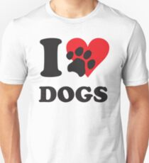 Camiseta unisex yo amo los perros