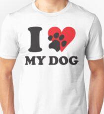 Camiseta unisex amo a mi perro