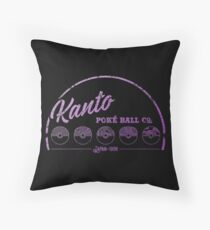 Purple Kanto Poké Ball Company Throw Pillow
