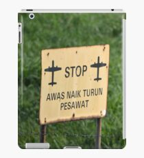 airport sign iPad Case/Skin