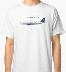 Illustration of US Airways Airbus A320 Classic T-Shirt