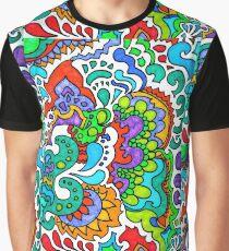 Colorful Bubbly Sun Doodle Graphic T-Shirt