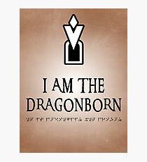 DRAGONBORN Skyrim Photographic Print