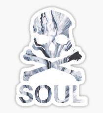 soul - gray marble Sticker