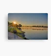 May Sunrise over the Illinois River Canvas Print