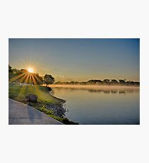 May Sunrise over the Illinois River Photographic Print