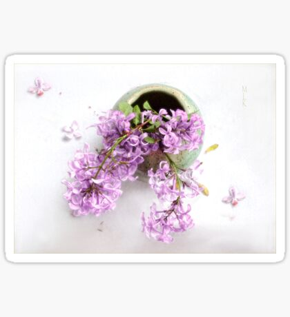 Lilacs in a Green Vase Sticker