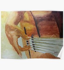Spanish Guitar Painting Mixed Media Posters