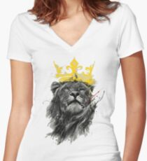 King of the Jungle Women's Fitted V-Neck T-Shirt
