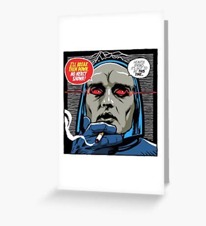 Post-Punk Break Down Greeting Card