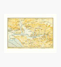Vintage Karte von Olympia Griechenland (1894) Kunstdruck
