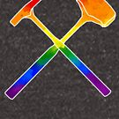 Rainbow Geology Hammers by moietymouse