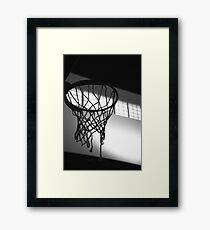 Basketballkorb Silhouette Gerahmtes Wandbild