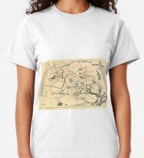Vintage 1692 Map of Salem Massachusetts (1866) Classic T-Shirt