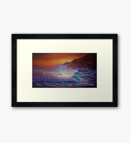Big Island last light Framed Print