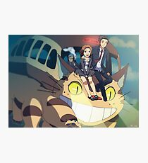 Xfiles - Ghibli (cat bus) Photographic Print