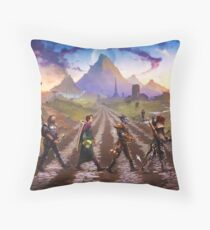 Advenrures Road Throw Pillow