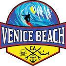 Surfing VENICE BEACH CALIFORNIA Surf Surfer Surfboard Waves Ocean Beach Vacation by MyHandmadeSigns