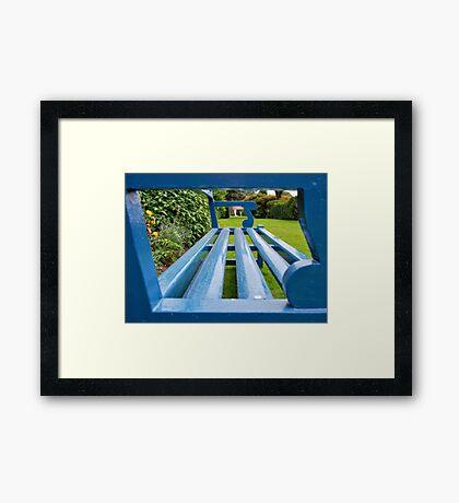 The Blue Bench Framed Print