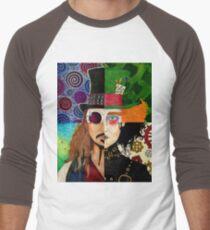 Johnny Depp Character Collage Men's Baseball ¾ T-Shirt